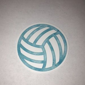 Blue Volleyball Sports Sticker